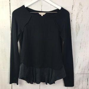 Rebecca Taylor Silk Trimmed Pullover Sweater